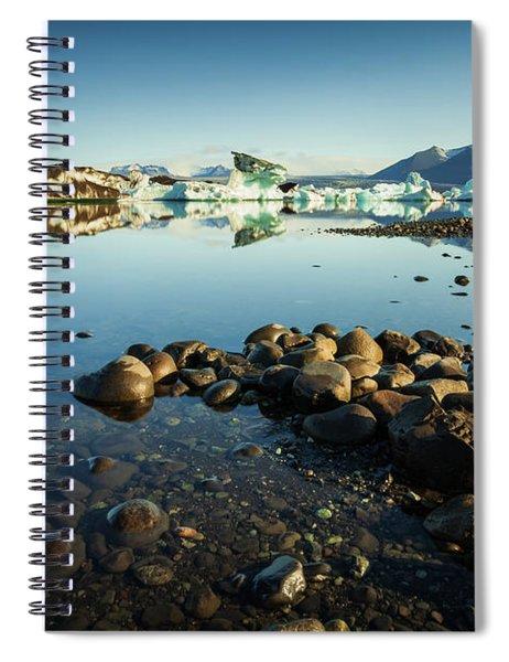 Jokulsarlon Lagoon, Iceland Spiral Notebook