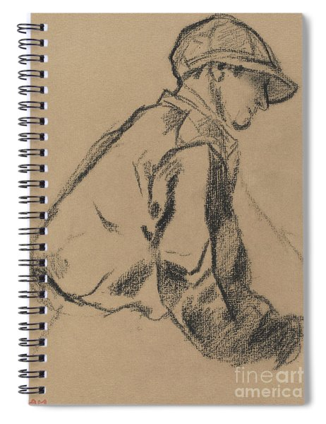 Study Of A Jockey Spiral Notebook