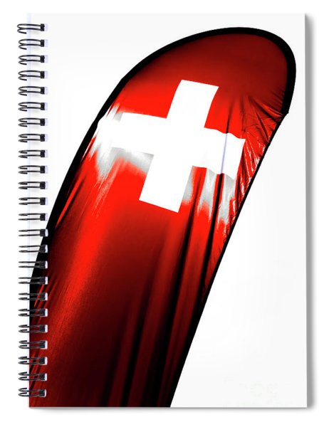 Swiss Flag Spiral Notebook