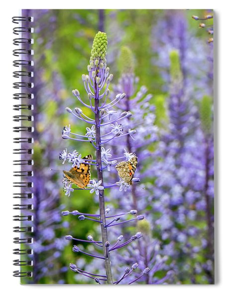 Spiral Notebook featuring the photograph The Couple by Arik Baltinester
