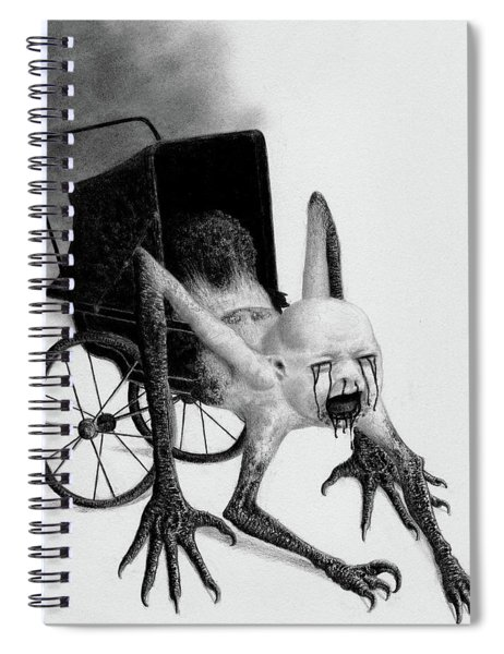 The Nightmare Carriage - Artwork Spiral Notebook
