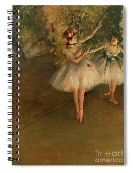 Two Dancers On A Stage Spiral Notebook