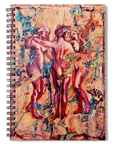 3 Virgins - Rubens, Airbrush 1990 Spiral Notebook