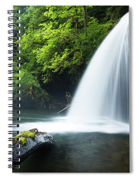 Waterfall In A Forest, Samuel H Spiral Notebook