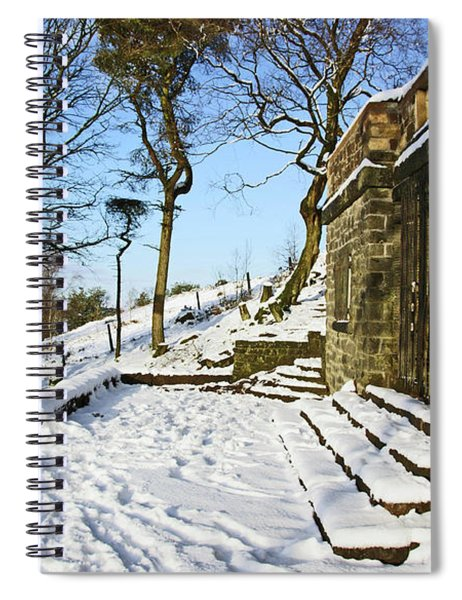 30/01/19  Rivington. Summerhouse In The Snow. Spiral Notebook