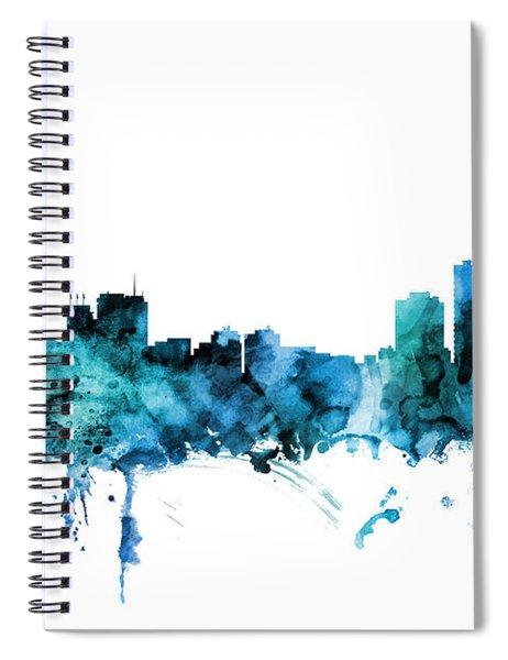 Anchorage Alaska Skyline Spiral Notebook