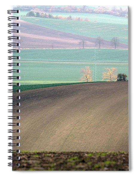 Autumn In South Moravia 5 Spiral Notebook