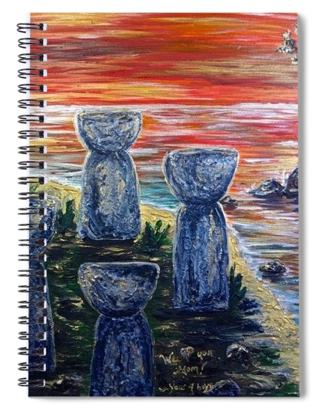 4 Latte Stones Spiral Notebook