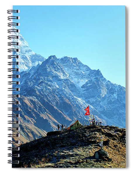 Machapuchare Mountain Fishtail In Himalayas Range Nepal Spiral Notebook