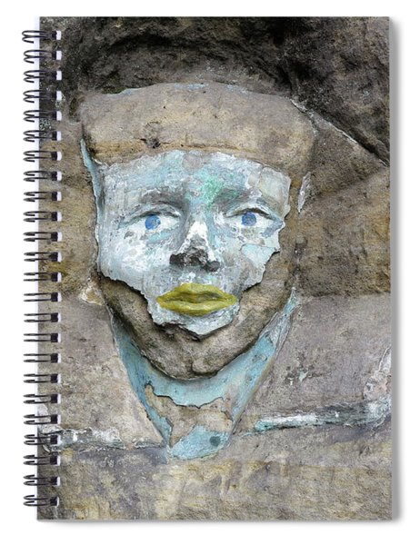 Rock Relief - The Face Of The Sphinx Spiral Notebook