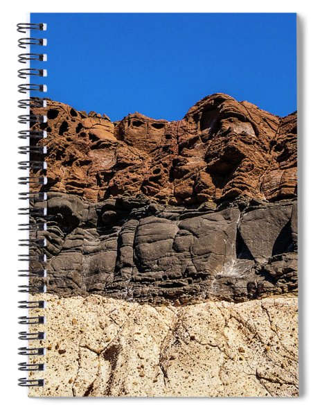 4 Textures 4 Colors Spiral Notebook