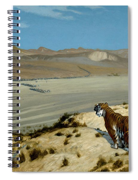 Tiger On The Watch Spiral Notebook
