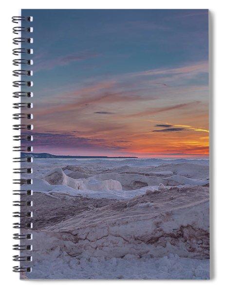 Winter Sunset Spiral Notebook