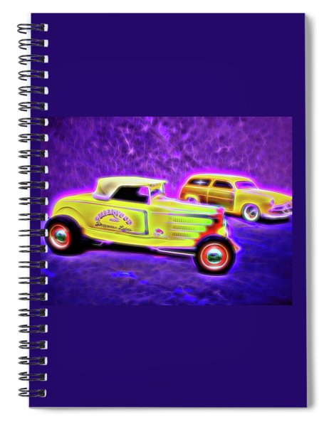 32 Roadster And 49 Woody Spiral Notebook