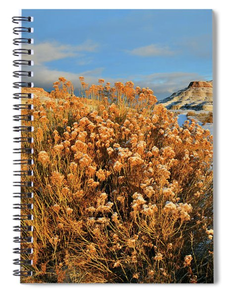 First Light On Ruby Mountain  Spiral Notebook