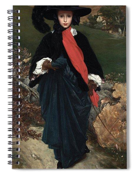 Portrait Of May Sartoris Spiral Notebook