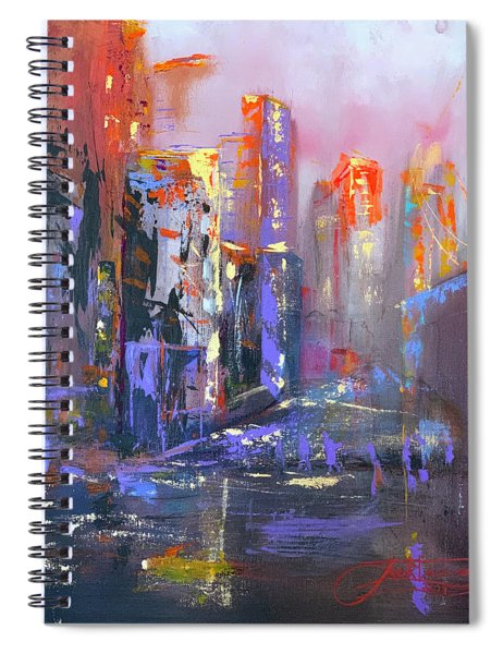 59th Street Bridge Sunrise Rain  Spiral Notebook
