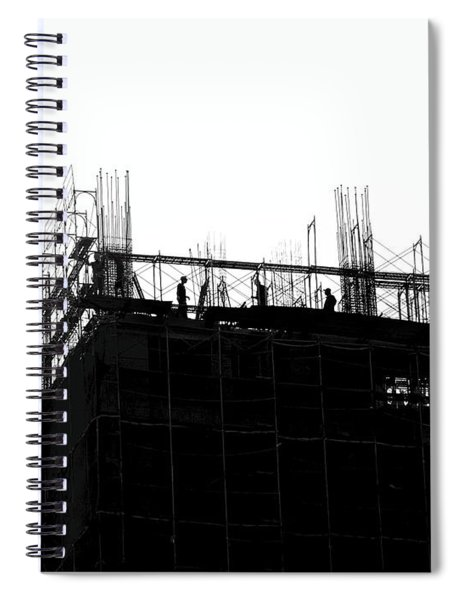 Large Scale Construction In Outline Spiral Notebook