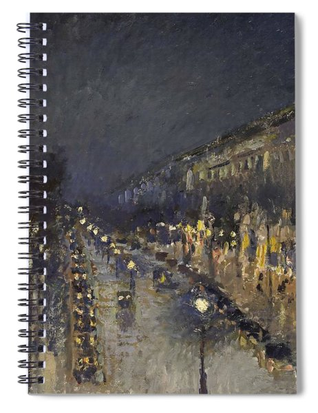 The Boulevard Montmartre At Night Spiral Notebook