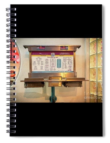66 Diner Menu  Spiral Notebook