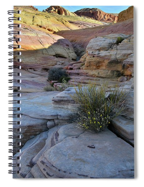 Entrance To Pastel Canyon In Valley Of Fire Spiral Notebook