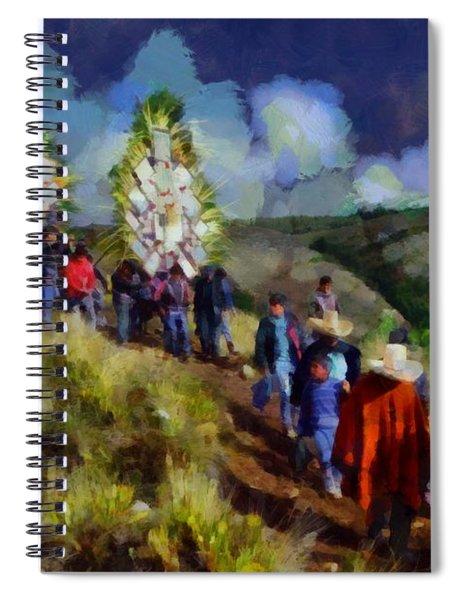 Palm Sunday In Cajamarca Spiral Notebook