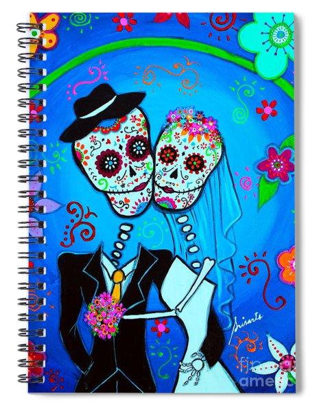 Wedding Dia De Los Muertos Spiral Notebook