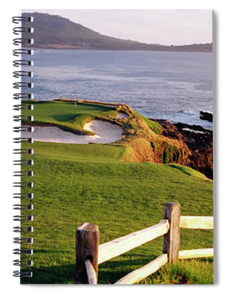 7th Hole At Pebble Beach Golf Links Spiral Notebook