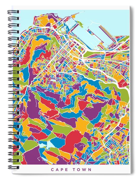 Cape Town South Africa City Street Map Spiral Notebook