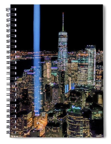 911 Lights Spiral Notebook