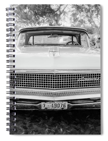 959 Lincoln Continental Town Car Mk Iv Bw 118 Spiral Notebook
