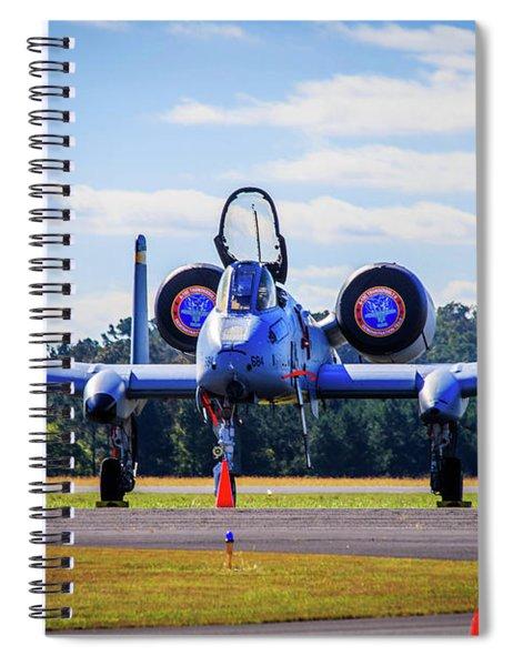 Spiral Notebook featuring the photograph A-10c Thunderbolt II by Doug Camara