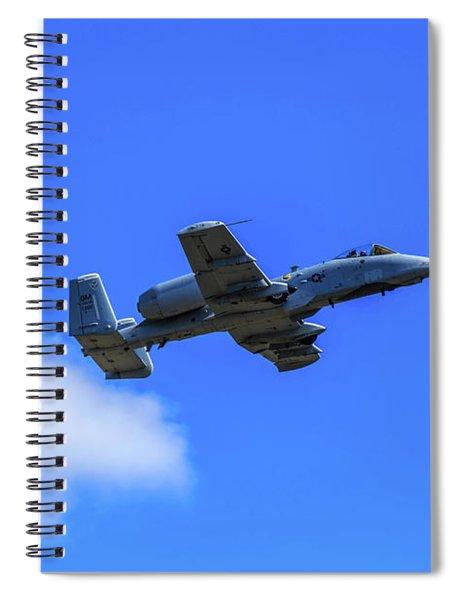A-10c Thunderbolt II In Flight Spiral Notebook