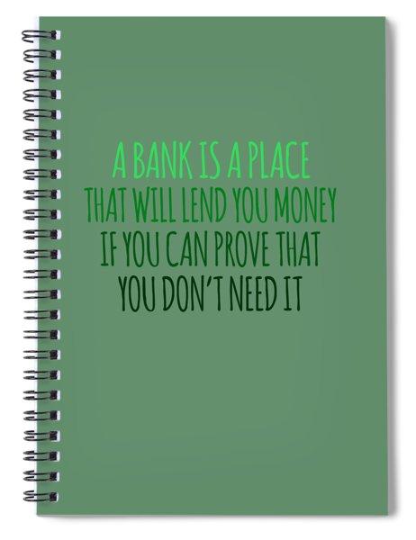 A Bank Spiral Notebook
