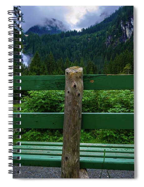 A Bench In The Woods Spiral Notebook