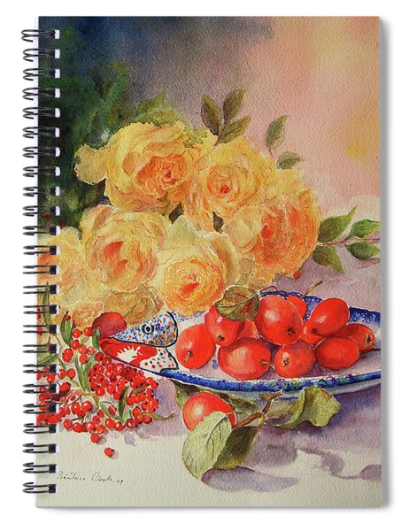 A Berry Or Two, Watercolour Still Life Spiral Notebook