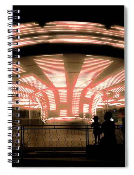 A Carousel By Night Spiral Notebook