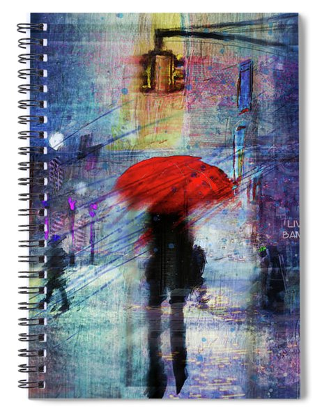 A Christmas In The City Spiral Notebook
