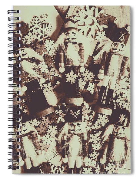 A Classic Christmas Scene Spiral Notebook
