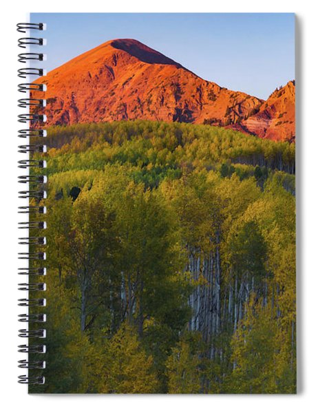 Spiral Notebook featuring the photograph A Colorado Glow by John De Bord
