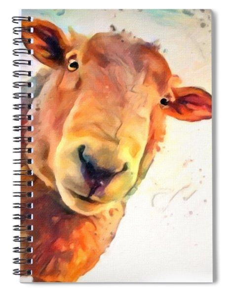 A Curious Sheep Called Shawn Spiral Notebook