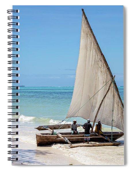 A Dhow In Zanzibar Spiral Notebook
