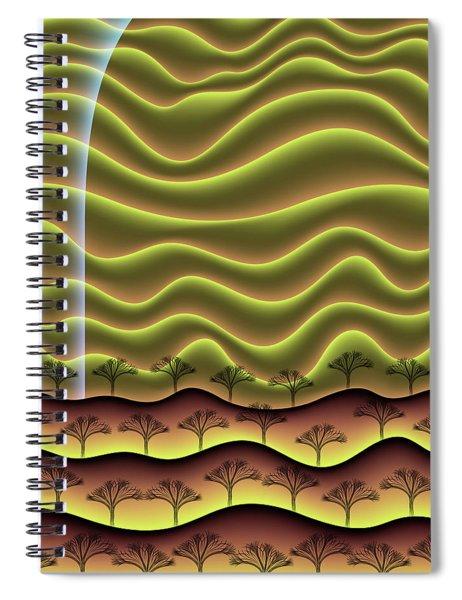 A Faint Glow On The Horizon Spiral Notebook