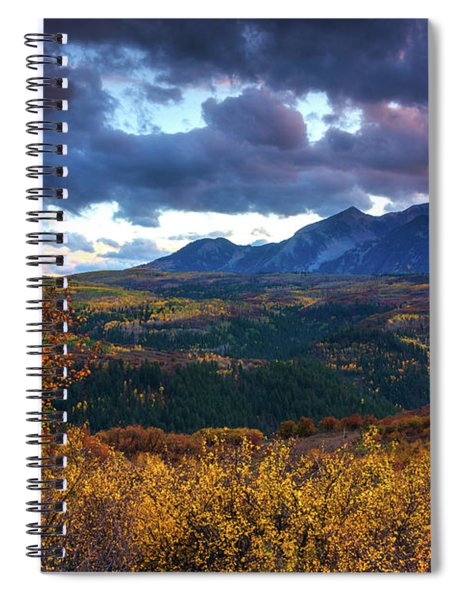 Spiral Notebook featuring the photograph A Fall Sunset In Colorado by John De Bord