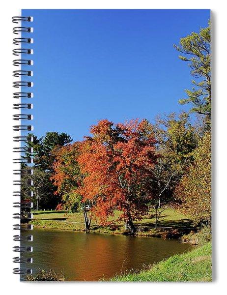 A Fall Walk To Relax Spiral Notebook