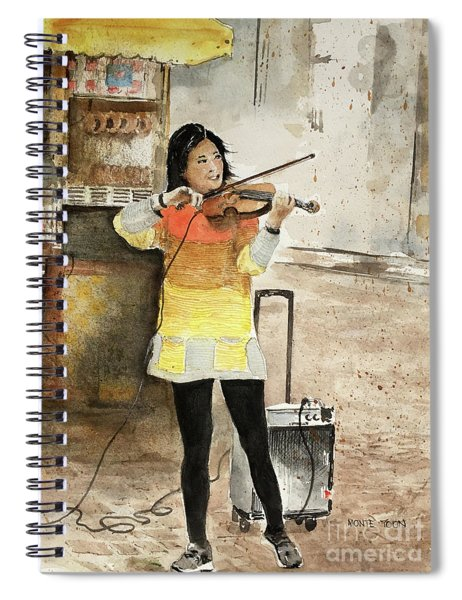 A Fiddler On The Boston Commons Spiral Notebook