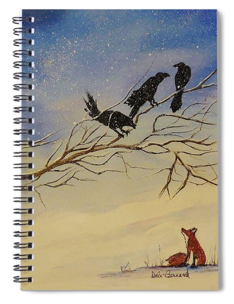 A Fox And His Cronies Spiral Notebook