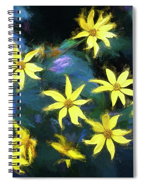 A Galaxy Of Sunflowers In Langdon Woods  Spiral Notebook