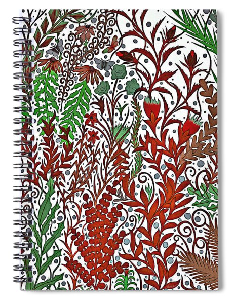 A Garden In The Midst Of A Changing Season Spiral Notebook