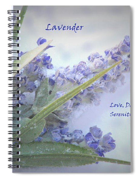 A Gift Of Lavender Spiral Notebook